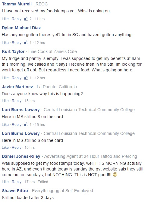 It Is Happening Now - EBT, Food Stamp Payment Deadlines Missed And ...