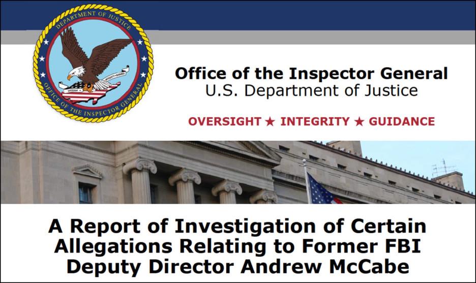 Inspector General Report Drops Hammer On Disgraced Former FBI