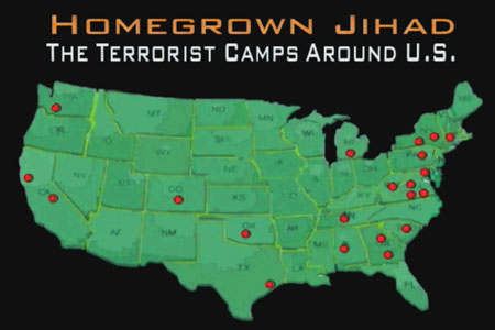 America Is A Huge Jihad Terror Training Camp ISIS Plans Multiple - Maps where jhadist are lockated in us