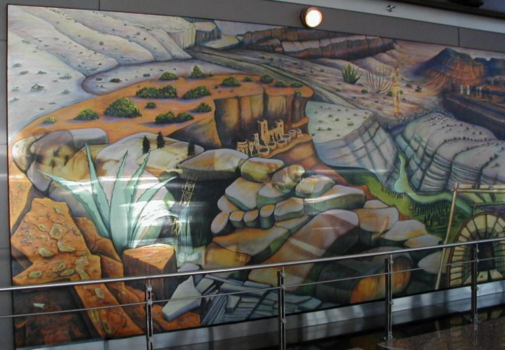 Are they preparing a massive d c false flag a look at a for Mural in denver airport