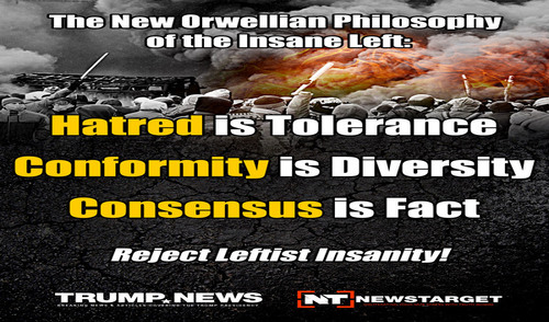 The Insane, Unhinged Politics And Philosophy Of The Loony Left Push America One Step Closer To The Breaking Point As Communism And Totalitarianism Hide Behind The Facade
