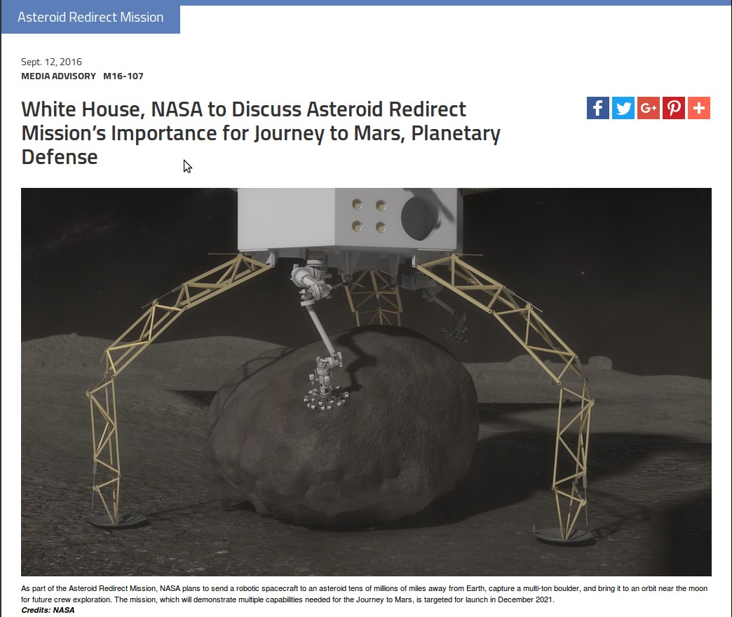 Obamas science czar warns earth not ready for asteroid strike for Nasa press release