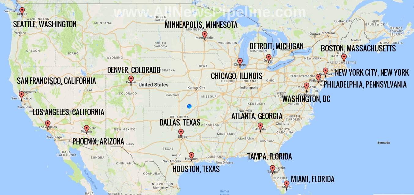 Map Shows Which US Cities Might Be Targeted First In Nuclear - Washington dc on the us map