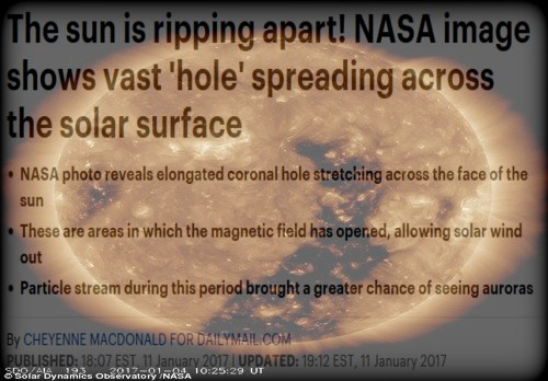 More Signs In The Sun, Moon And Stars - Earthquake Warning, Coronal Hole and Solar Winds Sun_rip_apart