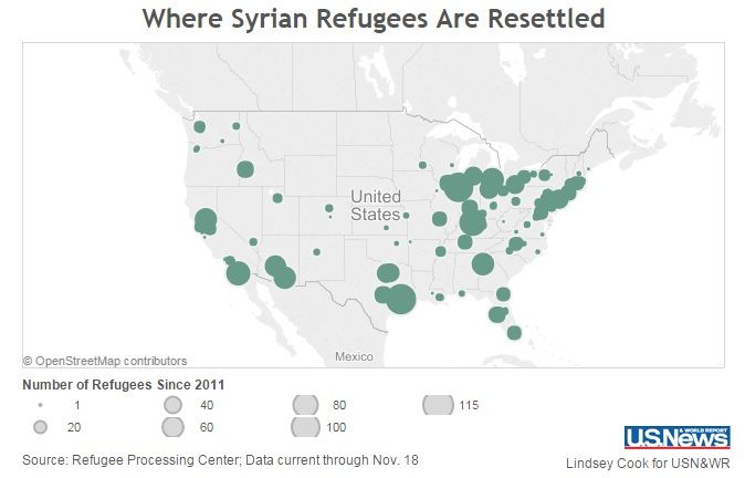 Updated Map And List Shows Refugees In 138 US Cities In 36