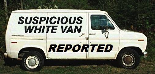 strange white vans following and attempting to kidnap people in